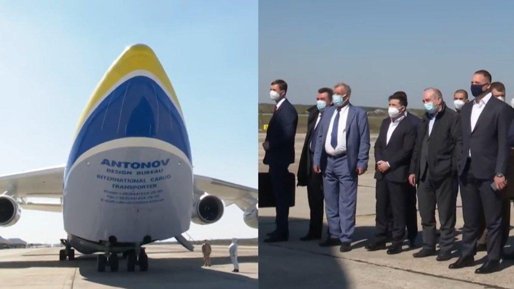 Президент урочисто зустрічав «Мрію» з масками не для медиків, а для торгових мереж?