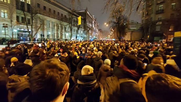 Киевская полиция отпустила всех задержанных после столкновений на Банковой